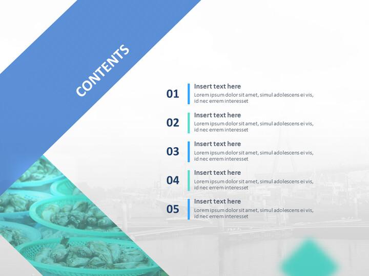 무료 Google 슬라이드 - 배와 생선 시장_02