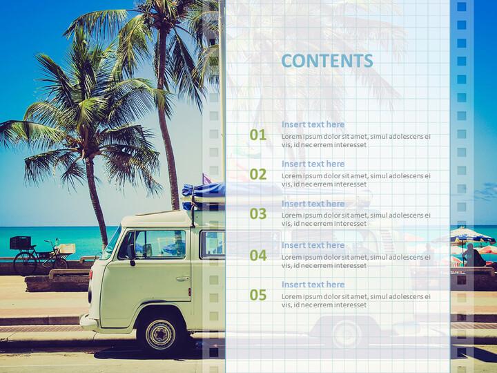 Google 슬라이드 템플릿 무료 다운로드 - 해변에서 캠핑 자동차_02