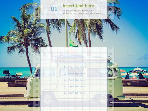 Google 슬라이드 템플릿 무료 다운로드 - 해변에서 캠핑 자동차_03