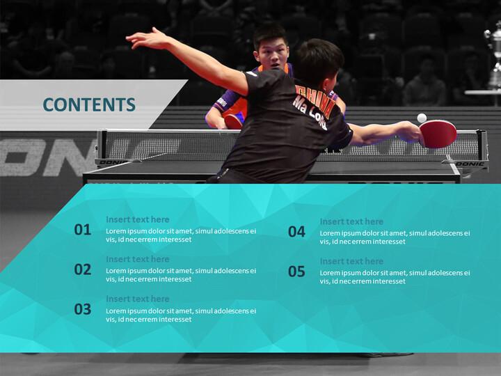 탁구 게임 - 무료 비즈니스 구글 슬라이드 템플릿_02