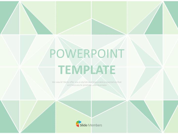 Pastel Mint Paperfolding Keynote Download Free