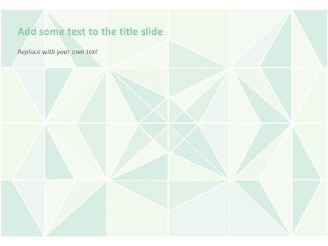 Google 슬라이드 이미지 무료 다운로드 - 파스텔 민트 페이퍼 폴딩_04