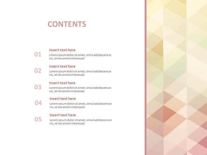 온라인 무료 구글슬라이드 - 파스텔 민트, 삼각형 패턴의 붉은 그라데이션_02