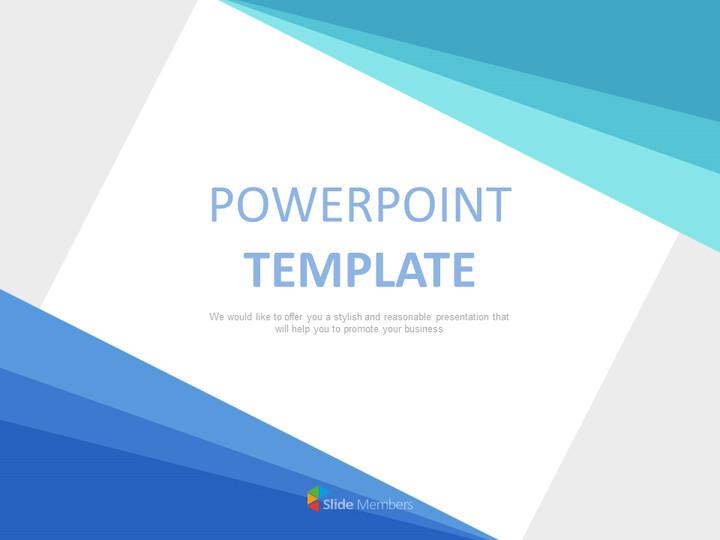 Google 슬라이드 템플릿 무료 다운로드 - 그라데이션 파란색 삼각형_01