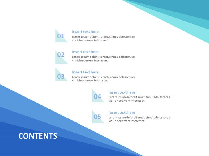 Google 슬라이드 템플릿 무료 다운로드 - 그라데이션 파란색 삼각형_02