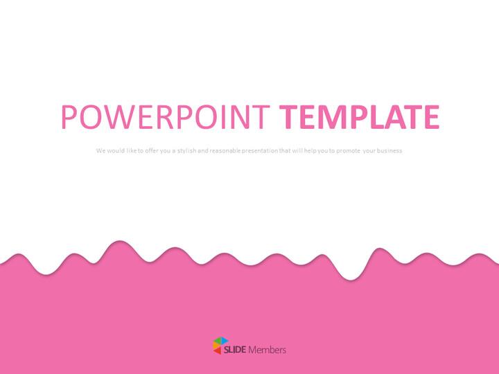 구글 슬라이드 템플릿 무료 다운로드 - 핑크 웨이브_01