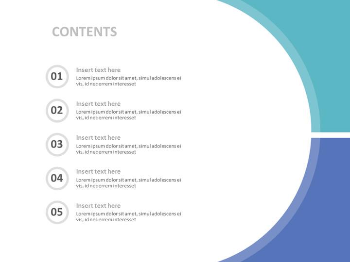 3 개의 동일한 부분으로 나누어 진 회색 청색 사각형 윤곽 - Google 슬라이드 무료 다운로드_02