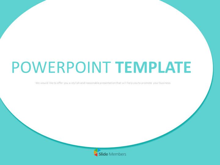 큰 청록색, 원형 연설 거품 - 무료 Google 슬라이드 템플릿 디자인_01