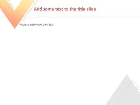 Free 프레젠테이션 템플릿 - 주황색과 노란색, 회색 삼각형으로 그라데이션 된 역 삼각형_04
