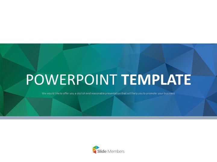 구글 슬라이드 템플릿 무료 다운로드 - 진한 녹색과 진한 파란색 삼각형 패턴_01