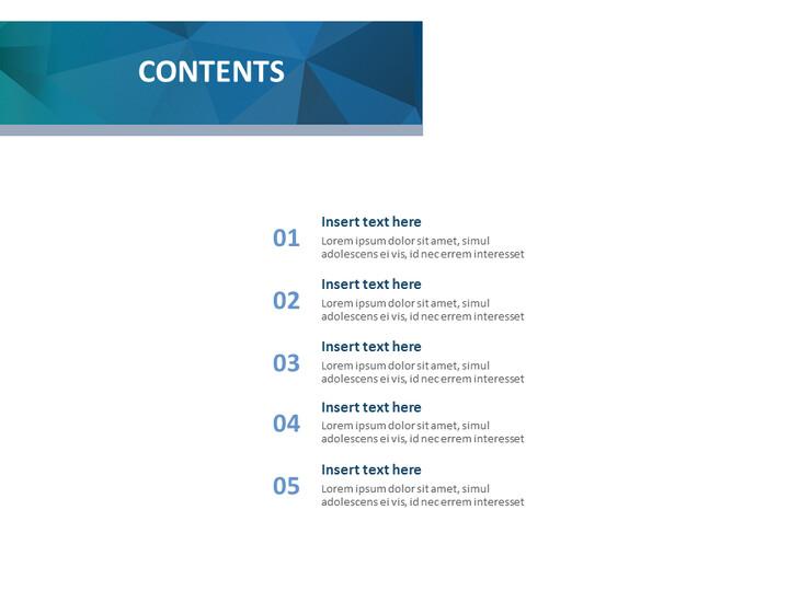 구글 슬라이드 템플릿 무료 다운로드 - 진한 녹색과 진한 파란색 삼각형 패턴_02