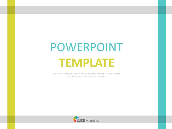 회색, 청록색 윤곽선 - 무료 구글 슬라이드 템플릿 디자인_01