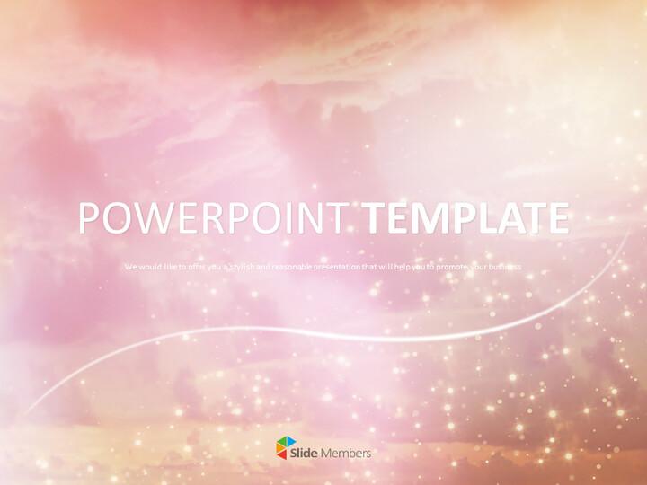 핑크 반짝 배경 - 구글 슬라이드 템플릿 무료 다운로드_01