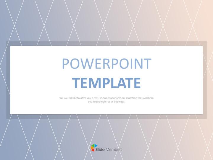 블루와 핑크 그라데이션 패턴 - 무료 프리젠테이션 템플릿_01