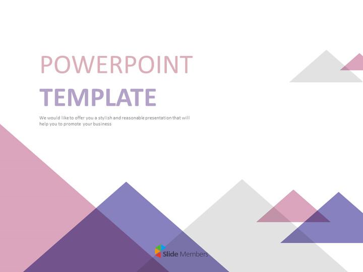 무료 Google 슬라이드 배경 - 분홍색, 자주색, 회색 삼각형_01
