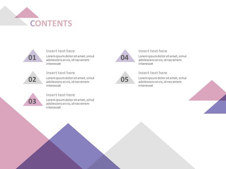 무료 Google 슬라이드 배경 - 분홍색, 자주색, 회색 삼각형_02