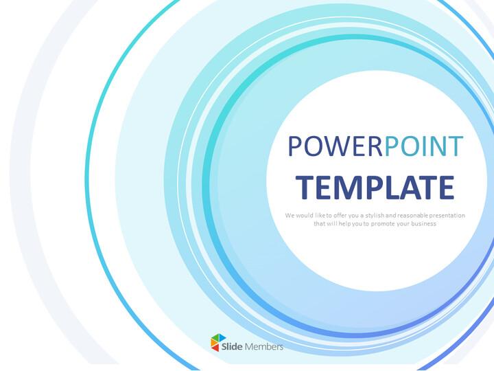 무료 구글 슬라이드 템플릿 디자인 - 파란색으로 그라데이션 된 원_01