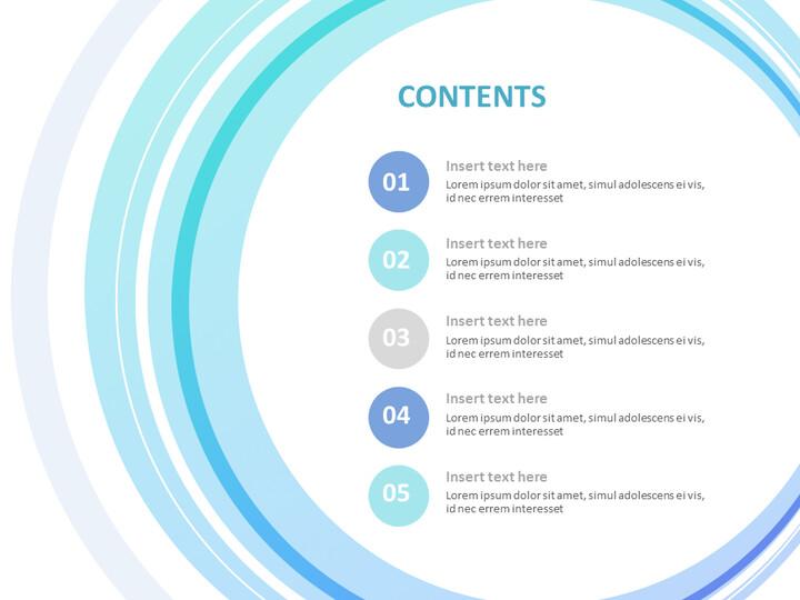 무료 구글 슬라이드 템플릿 디자인 - 파란색으로 그라데이션 된 원_02