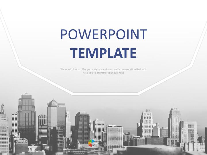 무료 Google 슬라이드 테마 - 흑인과 백인 건물_01
