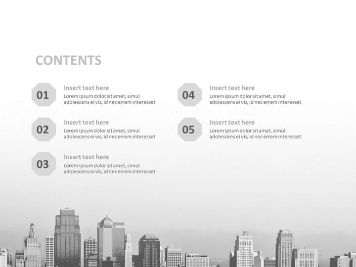 무료 Google 슬라이드 테마 - 흑인과 백인 건물_02