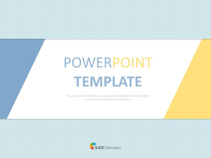 Free 프레젠테이션 템플릿 - 제목 개요 : 파란색과 노란색, 팁 부분 : 삼각형_01