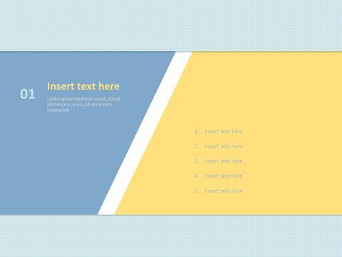 Free 프레젠테이션 템플릿 - 제목 개요 : 파란색과 노란색, 팁 부분 : 삼각형_03