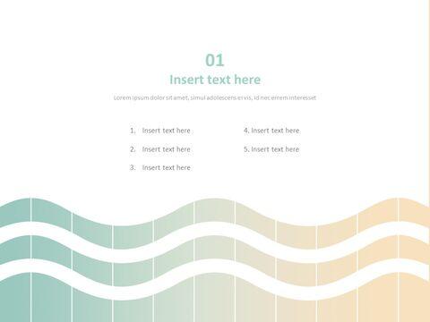 Free 프레젠테이션 템플릿 - 그라데이션 청록색과 상아 빛 파도_03
