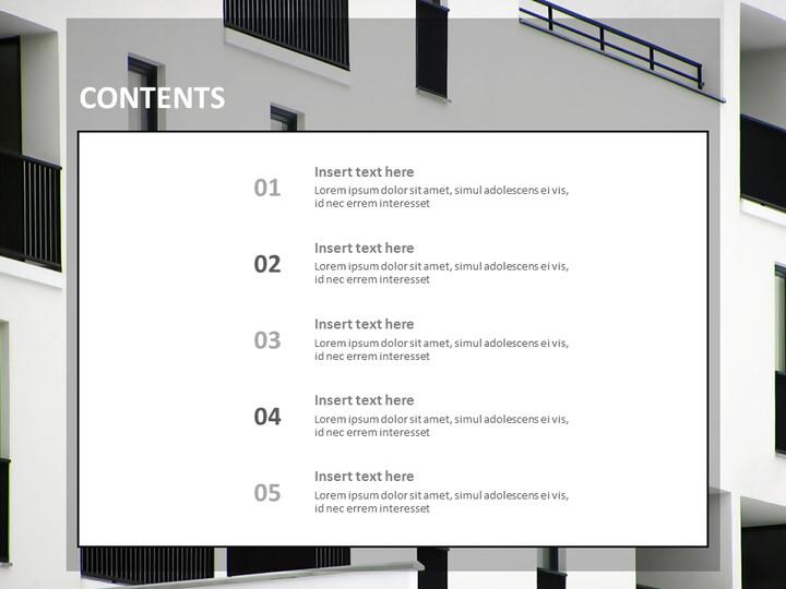 Google 슬라이드 무료 다운로드 - 흑백 Buliding의 Windows_02