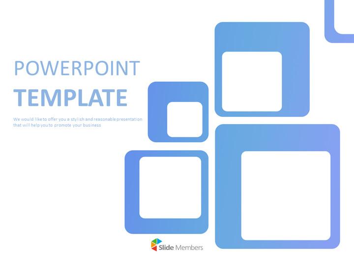 무료 Google 슬라이드 템플릿 - 파란색 사각형_01