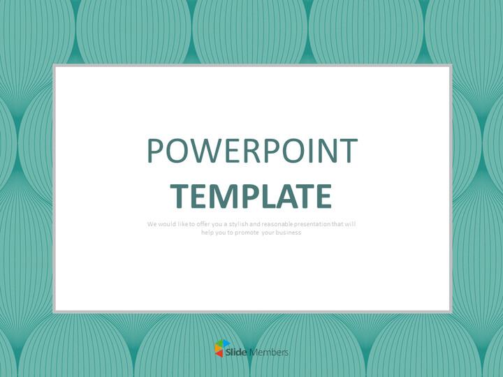 무료 Google 슬라이드 템플릿 - Turqoise Op Art 패턴_01