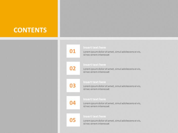 구글 슬라이드 템플릿 무료 다운로드 - 회색 주황색 사각형 테두리_02