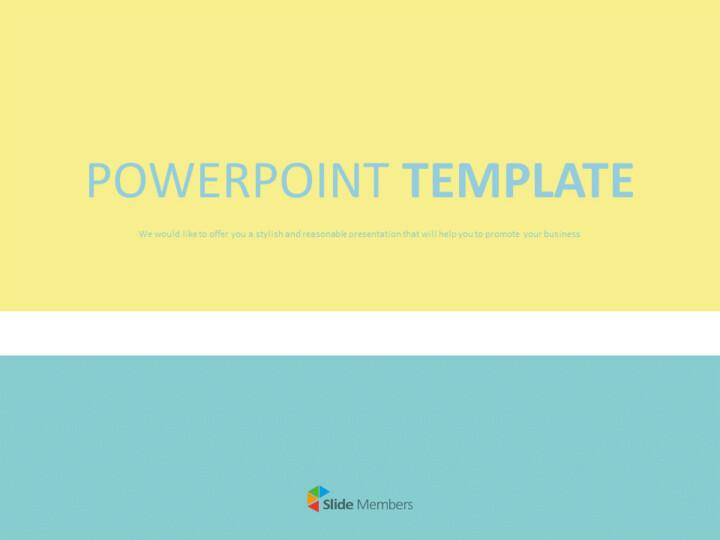 민트와 노란 줄무늬 배열 - 무료 Google 슬라이드 템플릿_01