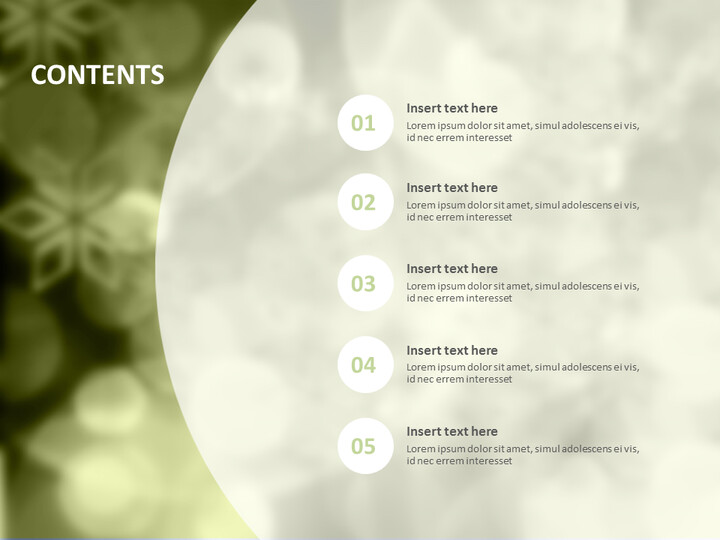 Olive-green Background With Overlapped Circles - Google Slides Template Free_02