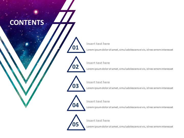 자주색 우주 삼각형 - 무료 Google 슬라이드 템플릿_02