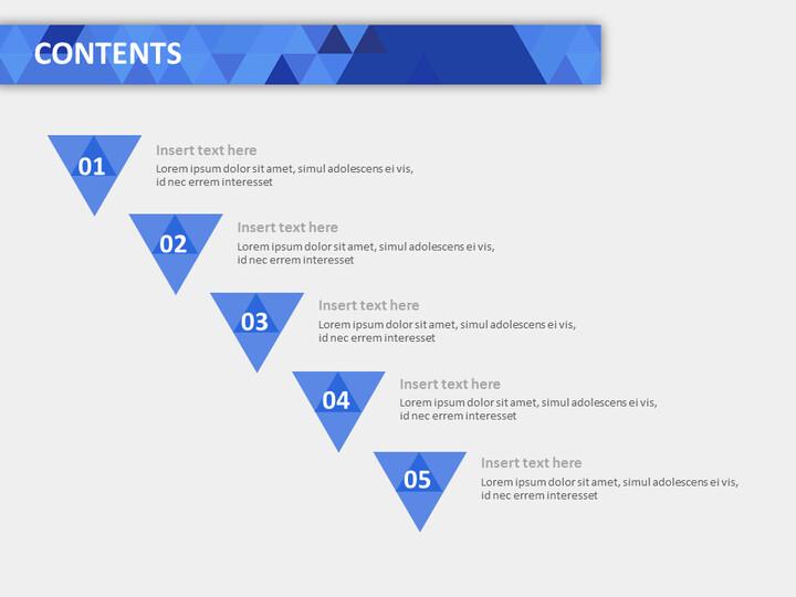 딥 블루, 스파클링 트라이앵글 - 무료 Google 슬라이드 템플릿 디자인_02