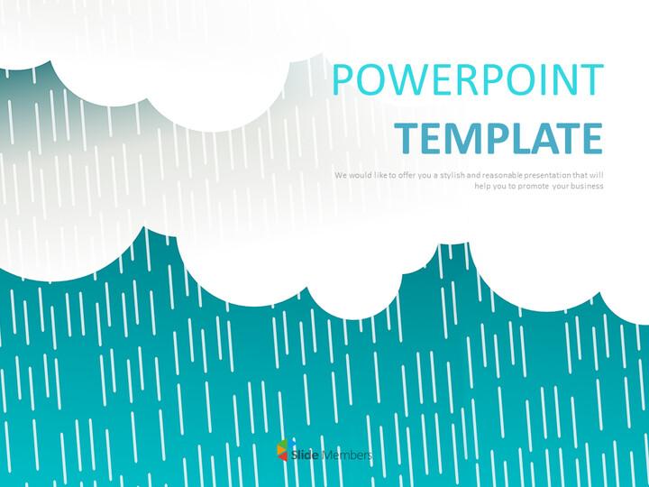 무료 Google 슬라이드 테마 - 떨어지는 청록색 구름_01