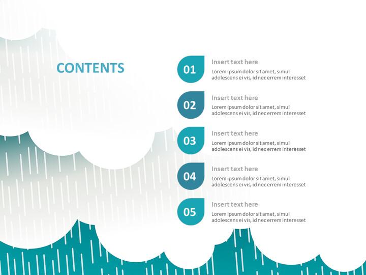 무료 Google 슬라이드 테마 - 떨어지는 청록색 구름_02