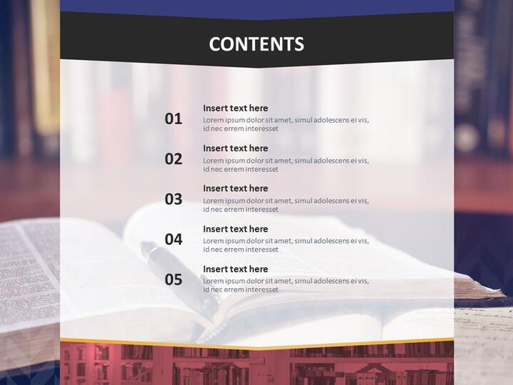 무료 Google 슬라이드 테마 - 도서관 데스크_02