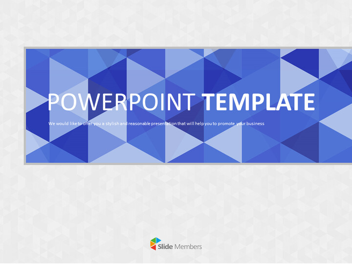 Google 슬라이드 템플릿 무료 다운로드 - 회색 배경으로 파란색 삼각형 패턴_01