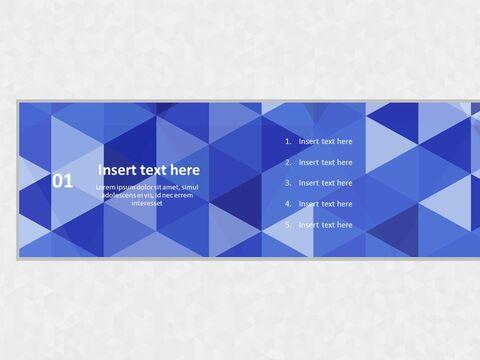Google 슬라이드 템플릿 무료 다운로드 - 회색 배경으로 파란색 삼각형 패턴_03