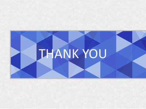 Google 슬라이드 템플릿 무료 다운로드 - 회색 배경으로 파란색 삼각형 패턴_06