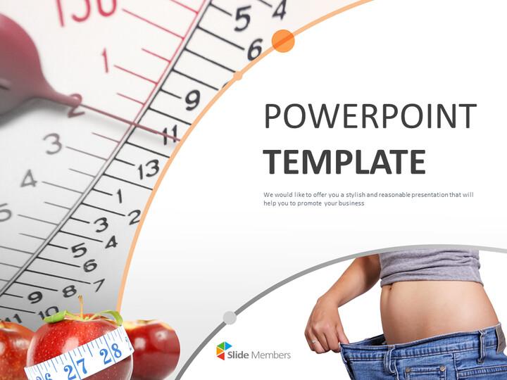 Google Slides Template Free Download - Diet for Slim Body_01