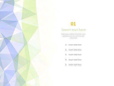 Google 슬라이드 템플릿 무료 다운로드 - 파스텔 그라데이션 효과가있는 반짝이는 삼각형_03
