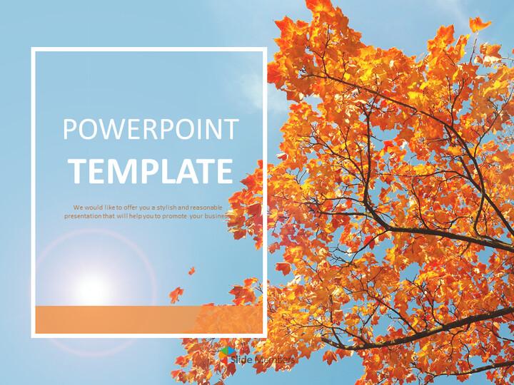 가을의 단풍 - Google 슬라이드 템플릿 무료 다운로드_01