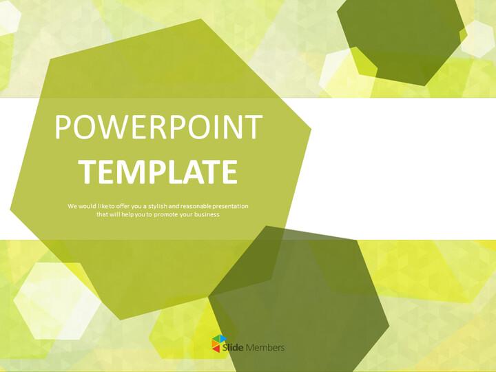 황록색 육각형 - 무료 Google 슬라이드 테마_01
