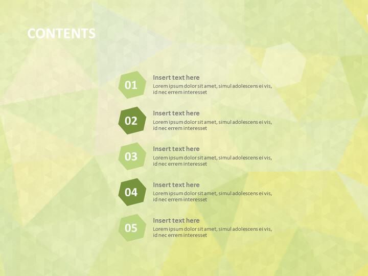 황록색 육각형 - 무료 Google 슬라이드 테마_02