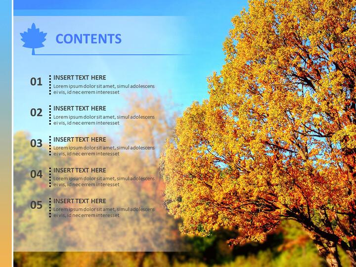 무료 비즈니스 구글 슬라이드 템플릿 - 붉은 단풍_02