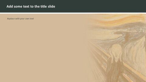 무료 구글 슬라이드 템플릿 디자인 - 에드바르 뭉크 \