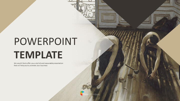 전문가 구글슬라이드 무료 템플릿 - 귀스타브 카일 보테 (Gustave Caillebotte)_01