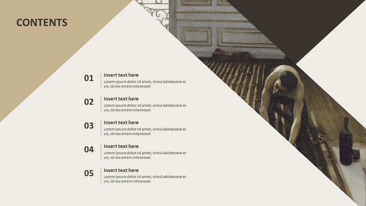 전문가 구글슬라이드 무료 템플릿 - 귀스타브 카일 보테 (Gustave Caillebotte)_04